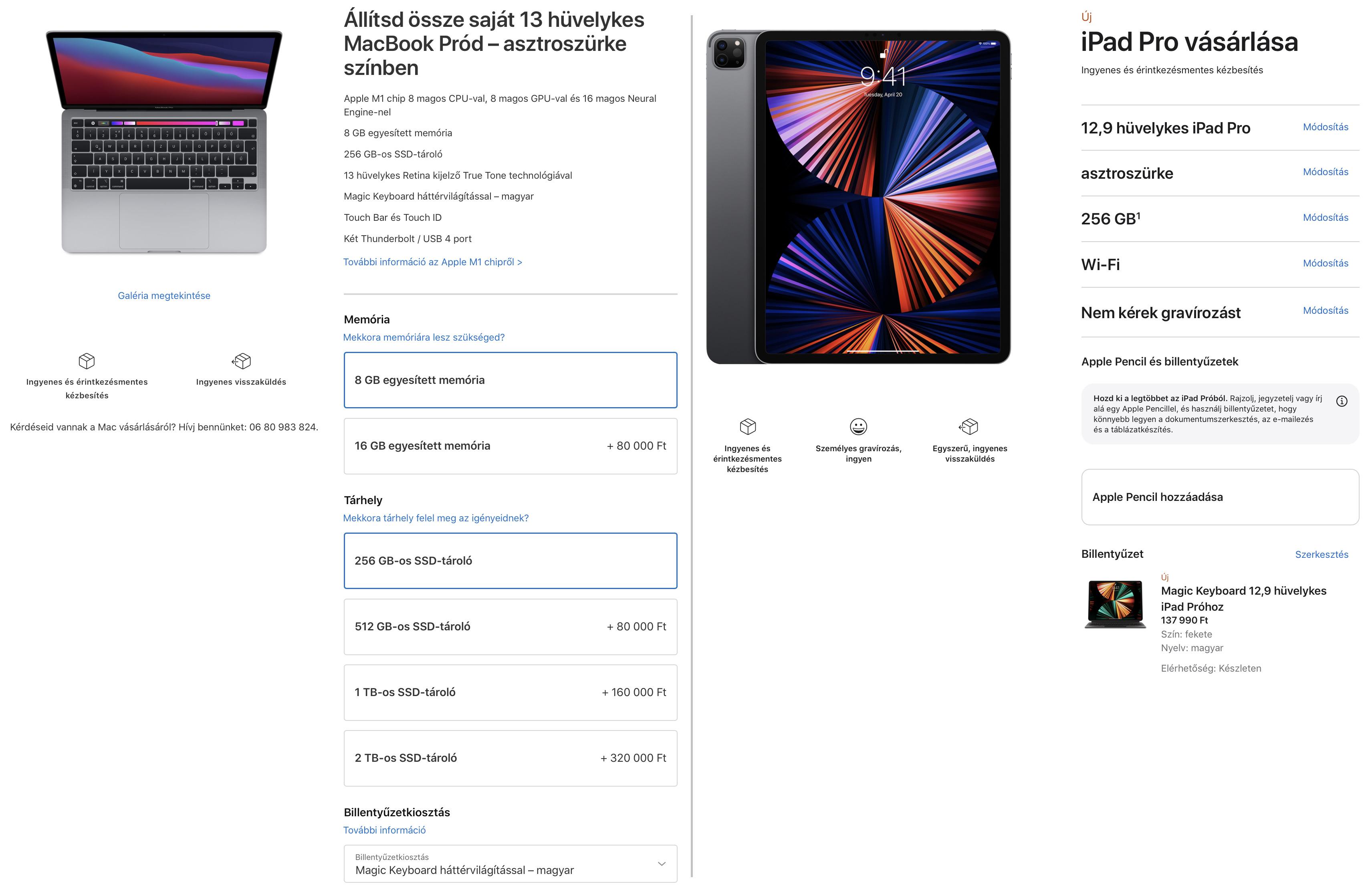 iPad Pro M1 vagy MacBook Pro M1? Melyik éri meg jobban?